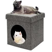 Portable Folding Foldable Chair Pet Cat Litter Kitten Bed Cats House Nest E5M1