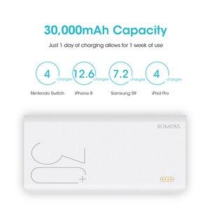 30000mAh ROMOSS Sinn 8 + Power Bank Tragbare Externe Batterie Mit PD Zwei-weg Schnelle Lade Tragbare Power ladegerät Für Telefon