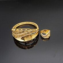gold plating jewelry sets fine jewelry sets FASHION women bangel  ring  NEW  design rhinestone bracelet