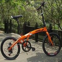Bicicleta eléctrica de aleación de aluminio con 20 pulgadas 48V de velocidad Variable plegable batería de litio