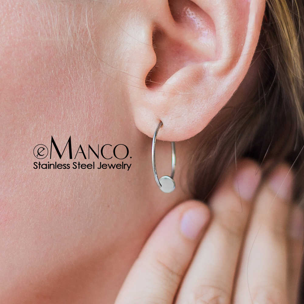 e-Manco korean style women stud earrings minimalist stainless steel earrings for women luxury designer jewelry for women