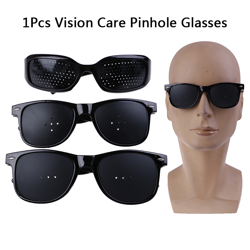 3Styles Pinhole Glasses Unisex Vision Care Pin Hole Eyeglasses Eye Exercise Eyesight Improve Plastic Natural Healing Cheap