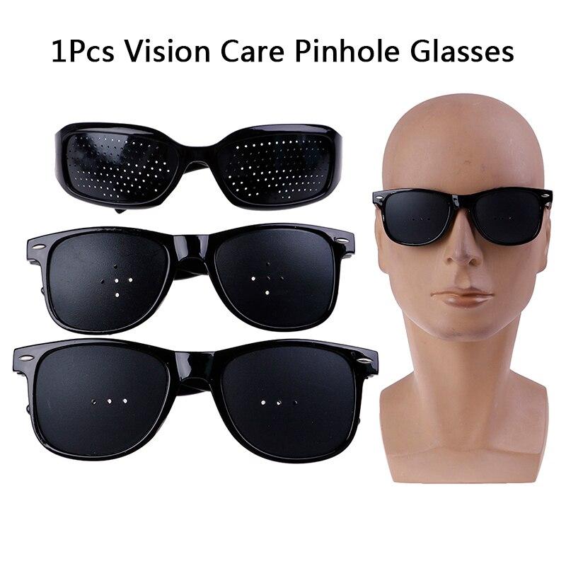 3Styles Pinhole Glasses Unisex Vision Care Pin Hole Eyeglasses Eye Exercise Eyesight Improve Plastic Natural Healing Cheap