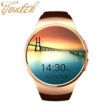NFC H Eart Rate Monitorสมาร์ทนาฬิกาKW18ซิมTF S Mart W Atch r eloj 2.5Dหน้าจอสัมผัสสมาร์ทนาฬิกาข้อมือสำหรับiosซัมซุงเอชทีซีAndroid