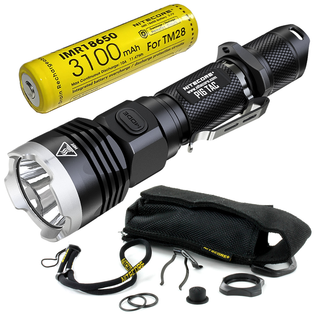 FREE SHIPPING Nitecore P16TAC Hunting Search Torch 1000LMs <font><b>CREE</b></font> XM-<font><b>L2</b></font> <font><b>U3</b></font> <font><b>LED</b></font> Tactical Flashlight With 18650 Rechargeable Battery image
