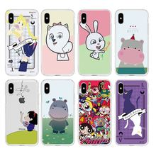 Kartun Salju Putih Keledai Kelinci Lembut Bening TPU Phone Case untuk iPhone 6 6 S Plus 7 7 Plus 8 plus iPhone X 5 S 4 S C257(China)