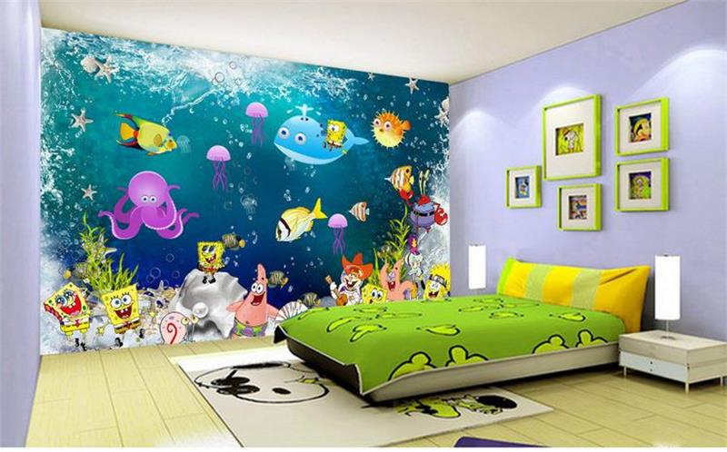 Superieur 3d Room Wallpaper Custom Non Woven Murals Undersea World Cartoon SpongeBob  SquarePants Painting Photo Wallpaper For Walls 3d In Wallpapers From Home  ...