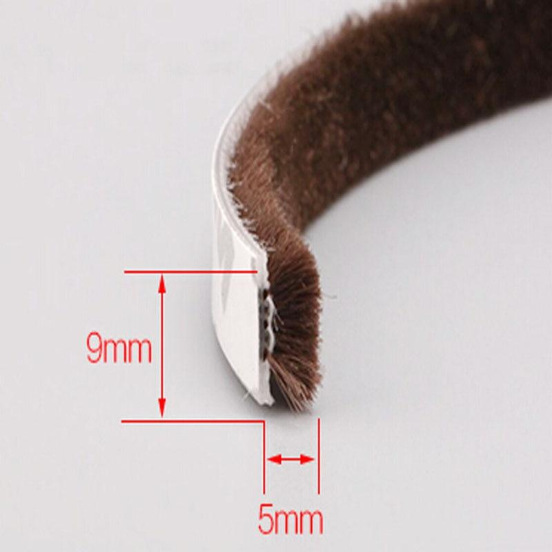 9 x 5mm Self adhesive dustproof window door brush seal strip windproof weatherstrip