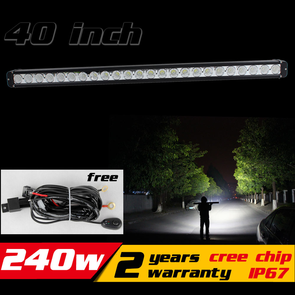 40 pouces 240 W LED Light Bar IP67 pour Tracteur ATV Offroad CONDUIT lumière Bar 4X4 LED Bar Offroad Brouillard lumière Économiser sur 260 w 300 w