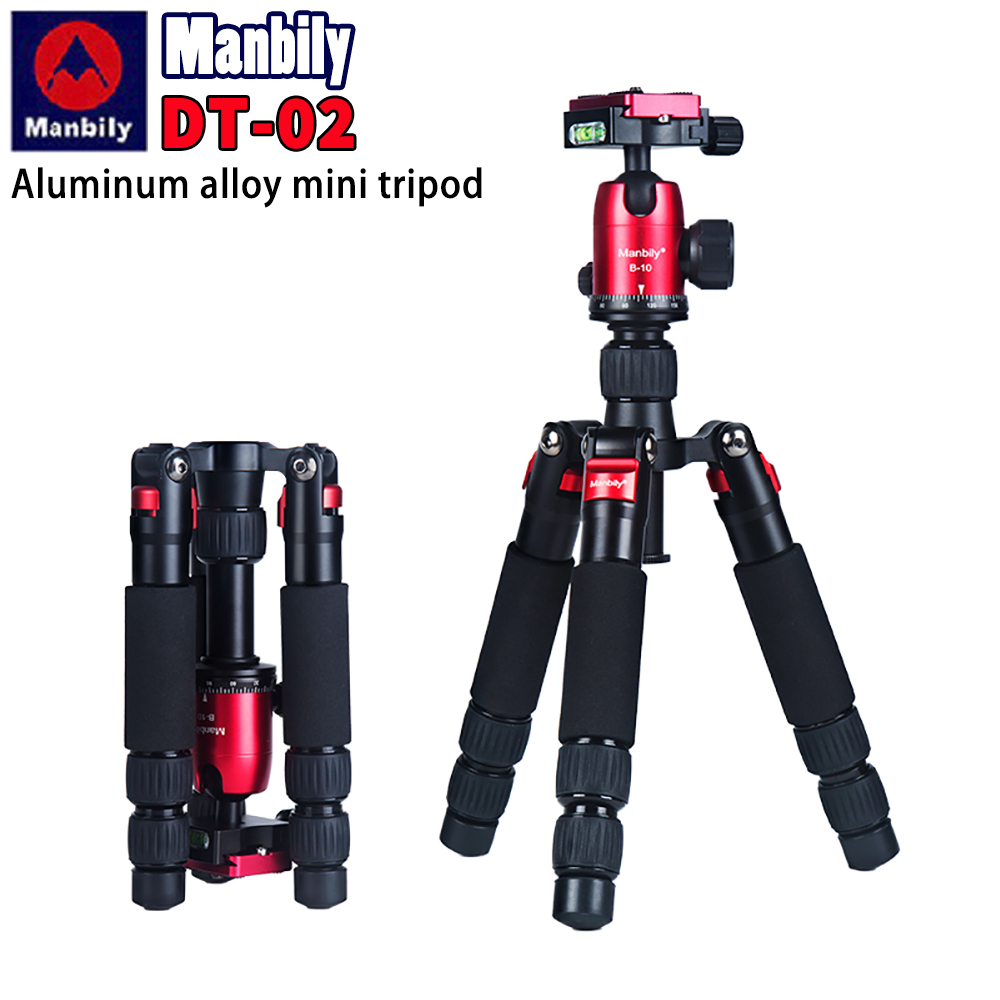 Manbily DT 02 mini tripod for mobile phone and camera macro shooting desktop video standLive Tripods