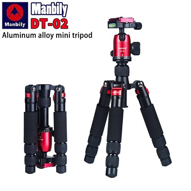 Manbily DT 02 מיני חצובה עבור טלפון נייד ומצלמה מאקרו ירי שולחן עבודה וידאו stand