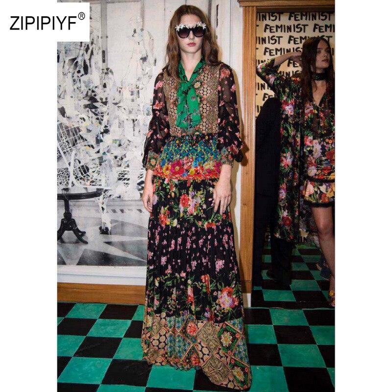 Здесь продается   New Arrival Floral Tie Up Women Long Dress Lantern Sleeve Pleated Design Elegant Vintage Maxi Dress 5 Size For Ladies B965  Одежда и аксессуары