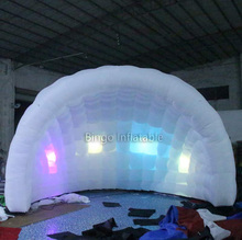 Cheap high quality 6m advertising wedding half circle inflatable dome tent with RGB led lights toy tent