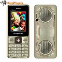X1000M сотовый телефон с power Bank 3 sim-карты двойной фонарик камера MP3 радио кнопка 2,4 дюймов дешевый старый мобильный телефон