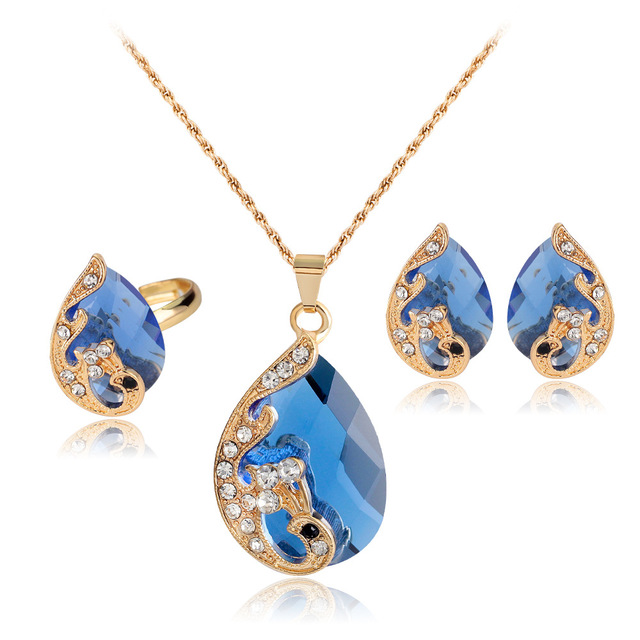Peacock Jewelry Set