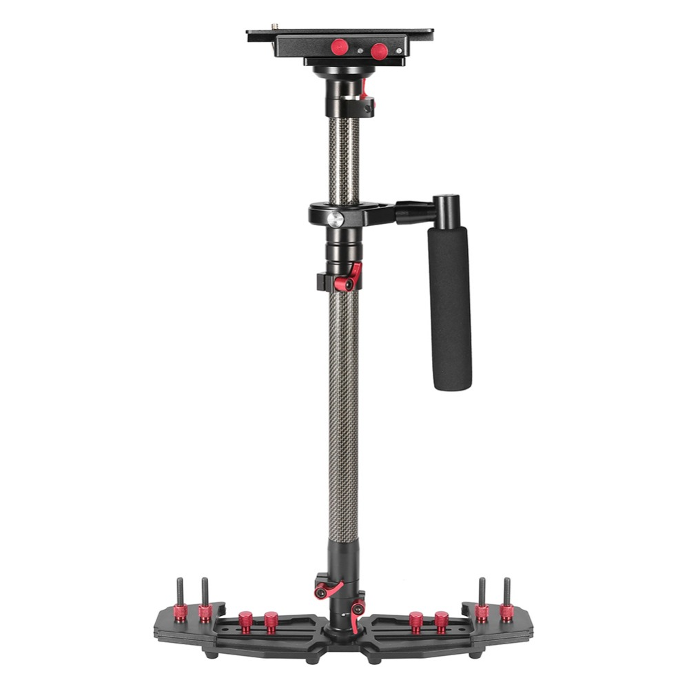 20.9-30.9in Adjustable length Carbon Fiber Handheld Video Stabilizer Lightweight With Quick Release Plate for Video Camera DSLR sf 04 mini handheld carbon fiber video camera stabilizer grip with quick release plate for sony pentax canon nikon dslr cameras