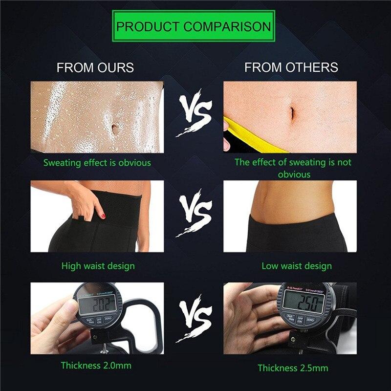 Image 3 - NINGMI Slimming Sauna Pant Thermal Neoprene Sweat Waist Trainers Fat Burn Shapewear Slim Body Shaper Control Panties Weight Lossbody shaperneoprene sweatcontrol panties -