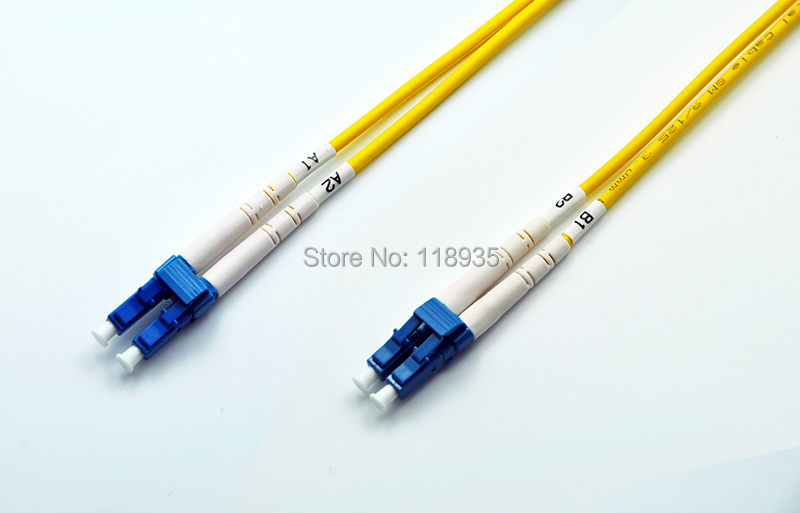 (2pcs/lot) LC-LC Singlemode OS2 Fiber Optic Cable Patch Cord, Duplex, 1m 2m 3m 4m 5m 6m 7m 8m 9m 10m