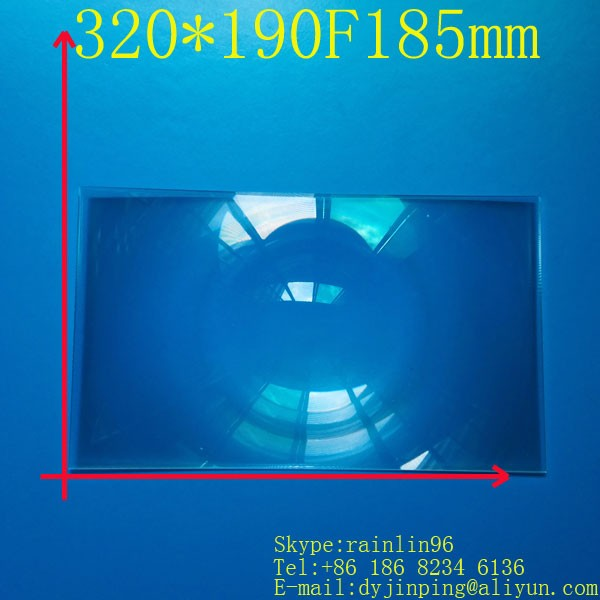 Livraison gratuite 15.6 pouces lcd panneau bricolage écran de projection projecteur lentille de fresnel 320*250 MM longueur focale 550 MM