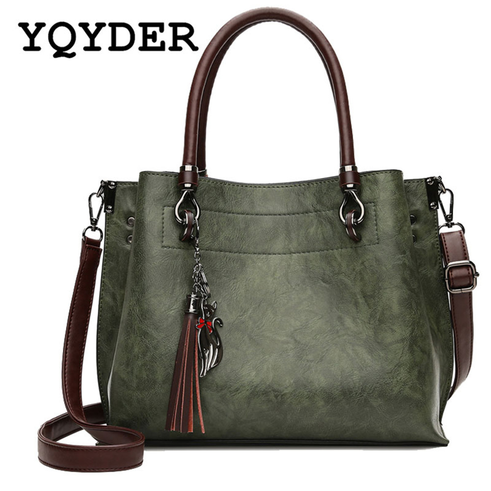 Vintage Women Tassel Bags Autumn and Winter New Simple Handbag Ladies Large Capacity Shoulder Bag Casual Tote Messenger Bag Sac 2016 autumn and winter new casual waterproof nylon shell bag soft bag portable women shouid bags dd5023