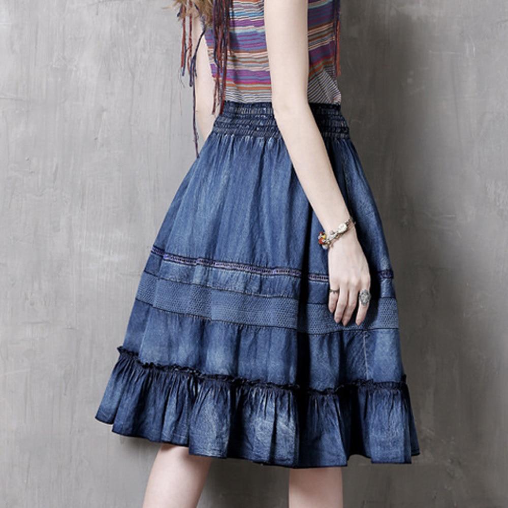718a7fa9c198cc Lâche Jeans Une Lxunyi Haute Patchwork Blue Femmes À Vintage D'été ...