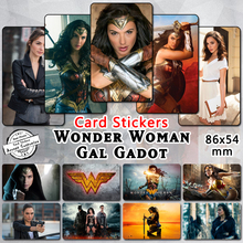 35pcs Wonder Woman 2017 Gal Gadot Card Stickers Gisele Beautiful Actress Movie Star Fans Collectible Gift