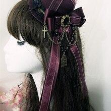 Прекрасный готический, викторианской эпохи Era головные уборы головной убор Лолиты головной убор