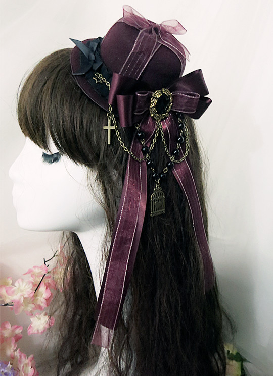 Lovely Gothic Victorian Era Bonnets Lolita Headdress Head Wear(China)