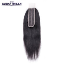 100% Brazilian Human Hair Straight 10-20 Inch 2*6 Lace Closure Natural Color Non- Remy Hair Weaving 1PC/Lot Free Shipping(China)