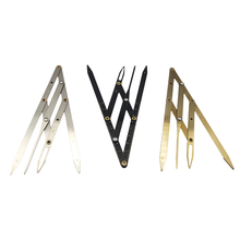 Microblading Accessories Eyebrow Ruler Stencil Stainless Steel for Permanent Makeup Supplies Golden Ratio Tattoo Measure Tools