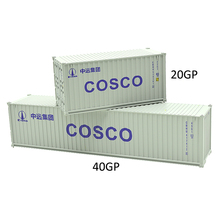 Ho model train railway toy truck 20ft &40ft COSCO shipping container freight car for building