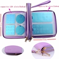 192 Slots PU Leather Nail Art Stamping Double layer Image Plate Case/Folder New Plates Holder Storage Bag   #WJ009