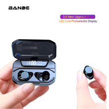 BT 5.0 Headset Sports Wireless Microphone With Charging Box For Smart Phone
