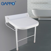 GAPPO настенный Сиденье для душа душ Складной Сиденье настенный душ сиденье белый табурет ABS алюминий для ванной скамейка для душа