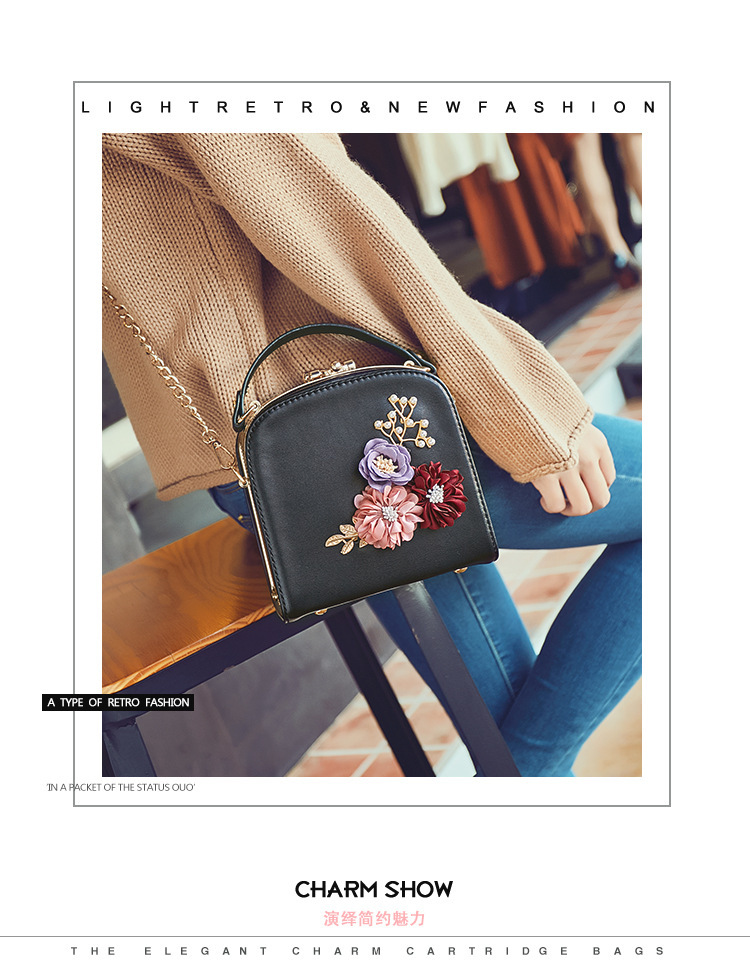 Women crossbody bag female messenger bag with long and short strap fashion designs flowers 45