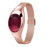 Z18 Lady Smart Watch Waterproof Sport Bracelet Metal Strap Women Elegant Smart Wristband Blood Pressure Fitness Activity Tracker