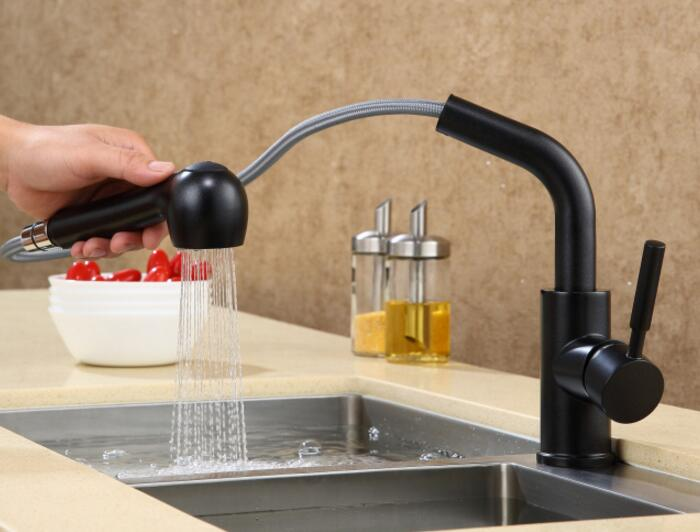 Free Shipping Premium ORB brass Sink Mixer Faucet Oil Rubbed Bronze copper black color Kitchen Tap KF568