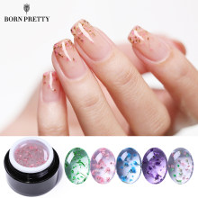 BORN PRETTY Flower Fairy UV Gel Nail Polish 5ml Colorful Pink Green Semitransparent Soak Off Nail Art Gel Varnish Design(China)