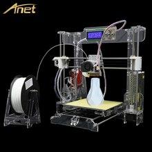 Fácil de Construir Anet Tamaño Grande 3d Reprap Impresora 3D de Alta Precisión Prusa i3 DIY 3D Kit de Impresora con Filamento + 8 GB SD Card + LCD + Semillero