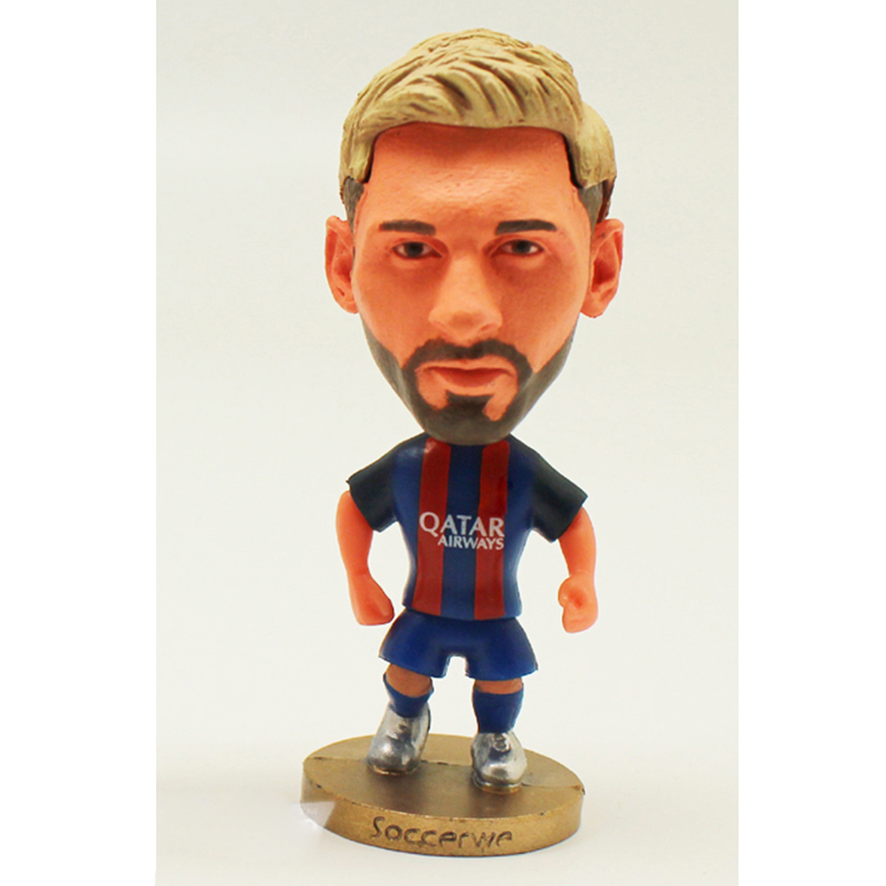 """1pcs Football star dolls Soccer Player Star Cristiano Ronaldo Lionel Messi 2.5"""" Action Dolls Figurine CR7 Toy Best Gift to kids"""