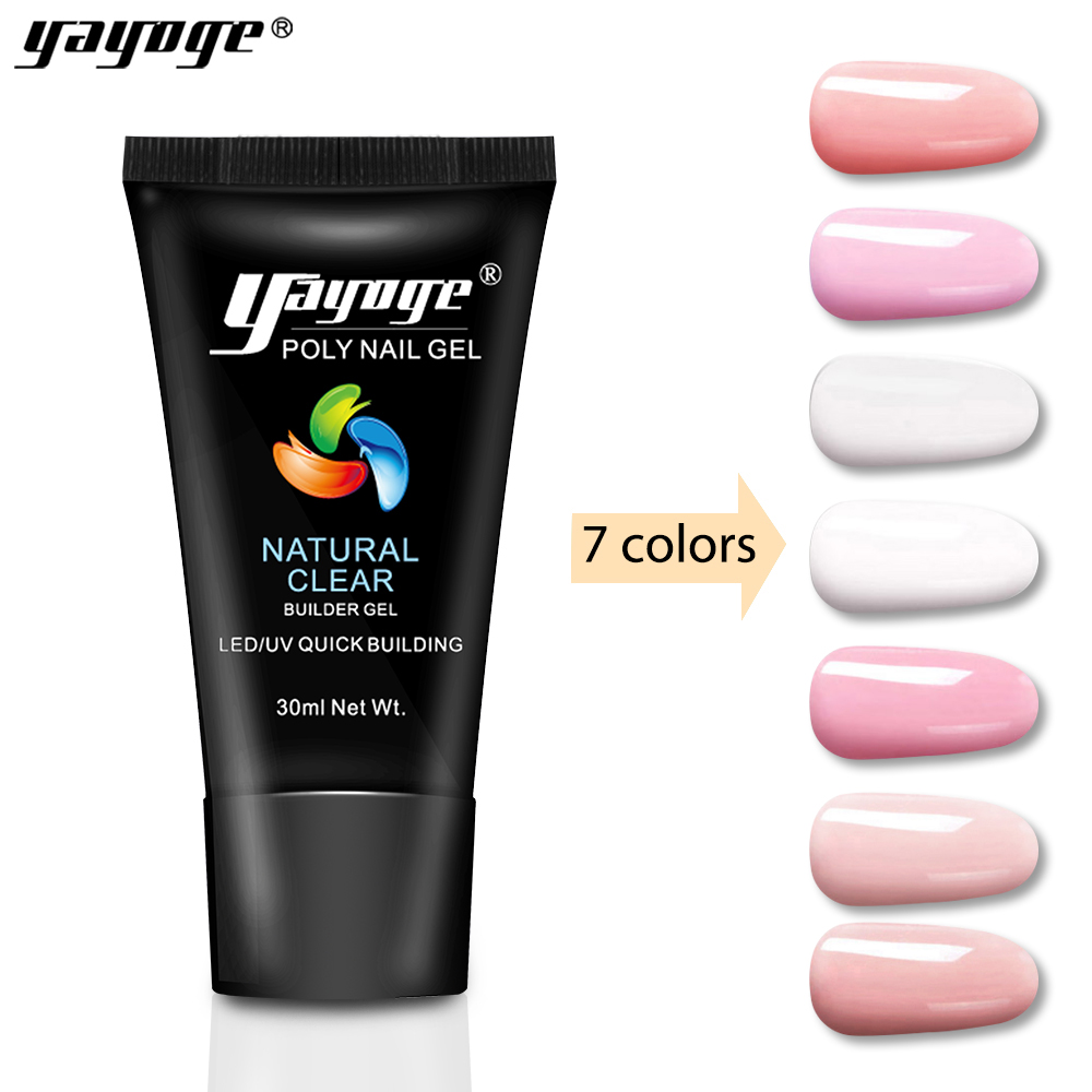 Yayoge builder poly gel varnish nail polish art UV Led lamp gel clear for nails extensions quick building hard jelly soak off