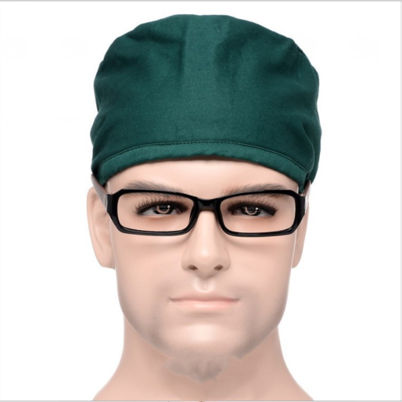5 pcs 4 colors Male doctor surgical cap Solid color scrub cap pet grooming doctor work cap cotton medical use doctor accessories