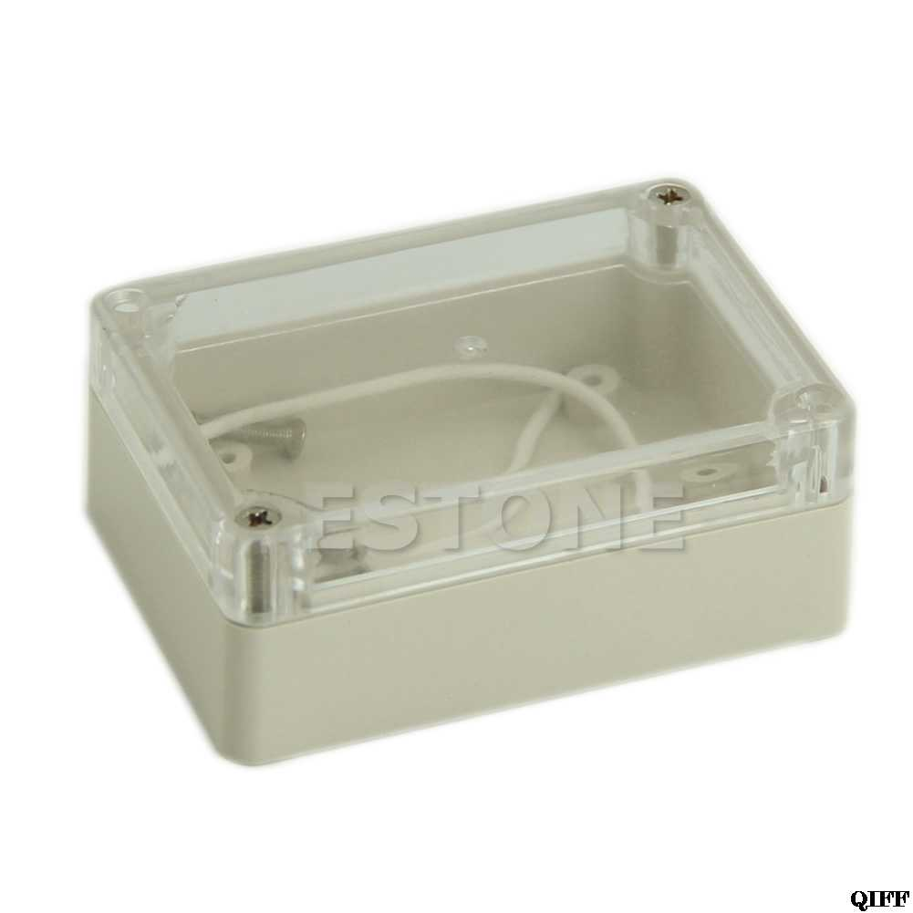 85x58x33mm Electronic Waterproof Project Box Clear Cover Plastic Enclosure CASE Mar28