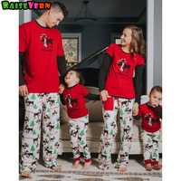 New Arrivals Christmas Suits Father Mother Kids Family Matching Outfits Long Sleeve Printed Sleepwear Pajamas Festival