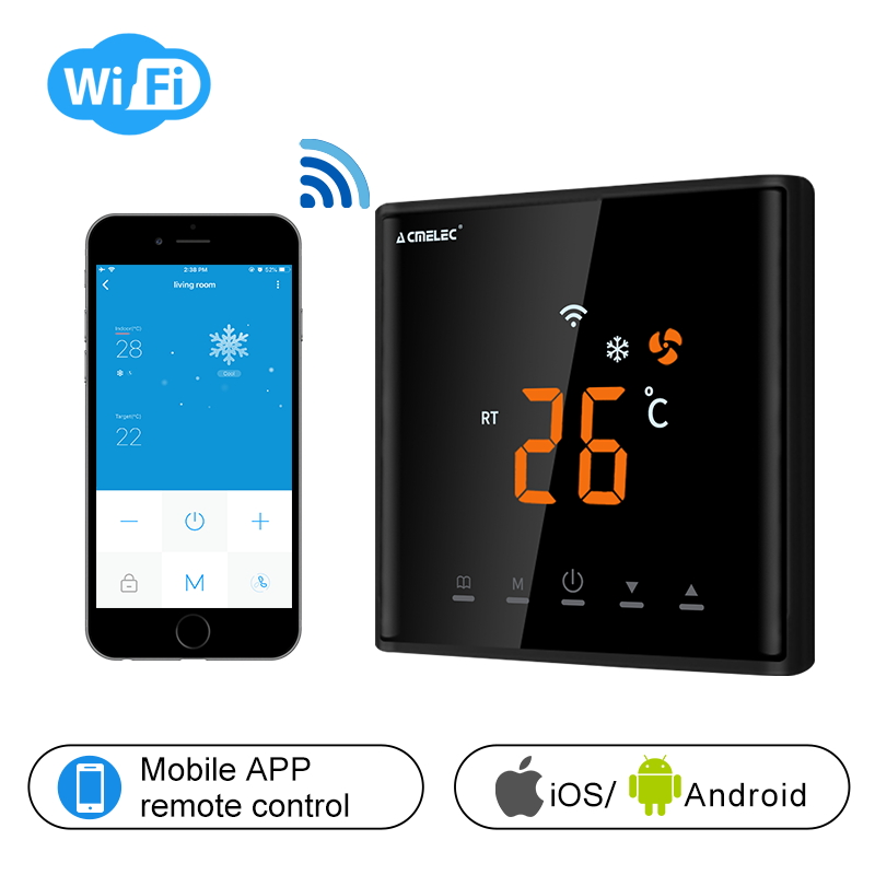 Central-Air-Conditioner Temperature-Regulator Wifi Thermostat App-Control LED AE-669-K