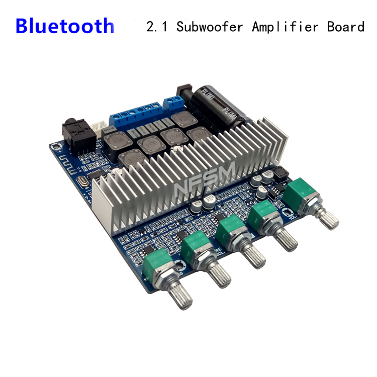 TPA3116 Bluetooth Amplifier TPA3116D2 2.1 Subwoofer Amplifier Digital Audio Board 50W*2+100W HIFI treble Bass For home Speaker lusya tpa3116 2 1 channel high power bluetooth digital audio amplifier board tf card usb subwoofer speaker amplifiers 2 50w 100w
