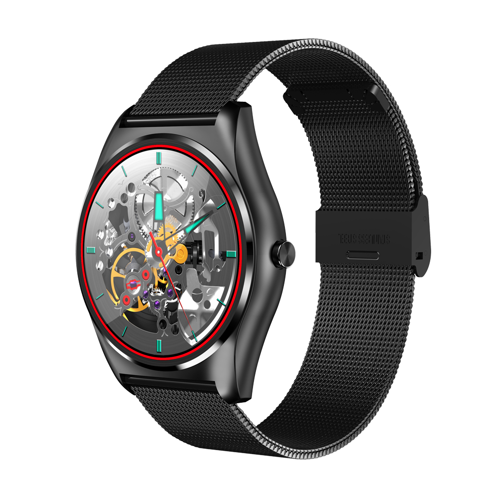 New Round MTK2502c Smart Watch Wireless Charging Heart Rate Monitor Support Call Notification Sync Smartwatch for iOS Android wireless service call bell system popular in restaurant ce passed 433 92mhz full equipment watch pager 1 watch 7 call button