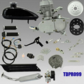 50cc 2-Stroke Motor Engine Kit for Motorized Bicycle Assembly Set Bike Gas Powered Silver/Black