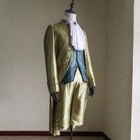 Косплэй DIY Индивидуальный заказ для взрослых мужские синий викторианской элегантный готический аристократ 18th века джентльмен Косплэй кост