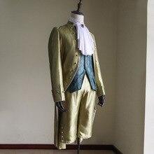 Cosplaydiy Custom Made Adult Mens Blue Victorian Elegant Gothic Aristocrat 18th Century Gentleman Cosplay Costume